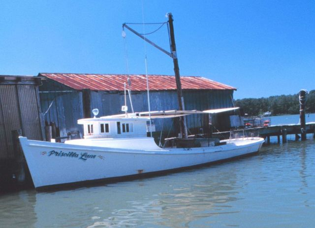 F/V PRISCILLA LANE is a Chesapeake Bay waterman's boat built in 1955. Picture