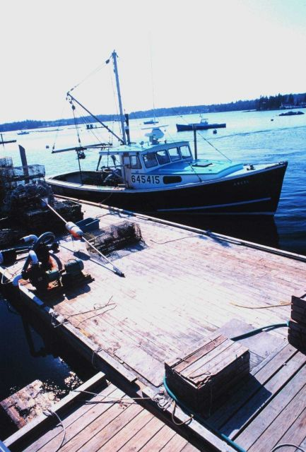 Lobster boat tied up at the Lobstermen's Co-op Picture