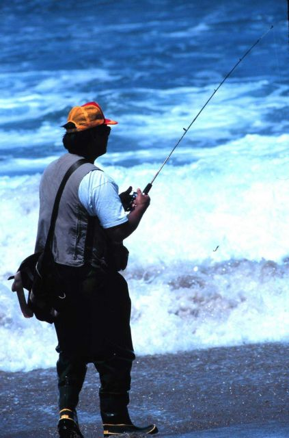 What a great way to spend the day - surf fishing near Vandenburg AFB Picture