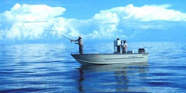 Something a little different - saltwater flyfishing from the bow of a small boat Picture