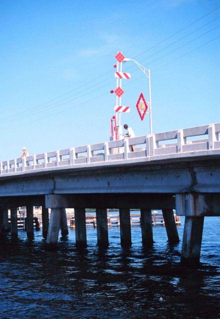 Fishing off a bridge at Matlasha Pass Picture