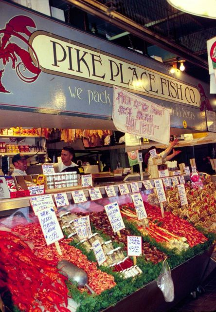Most seafood is sold through markets, like Seattle's Pike Place Market, or directly to processors and purveyors Picture
