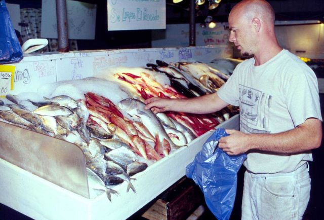 A Freeport, Long Island, seafood market. Picture