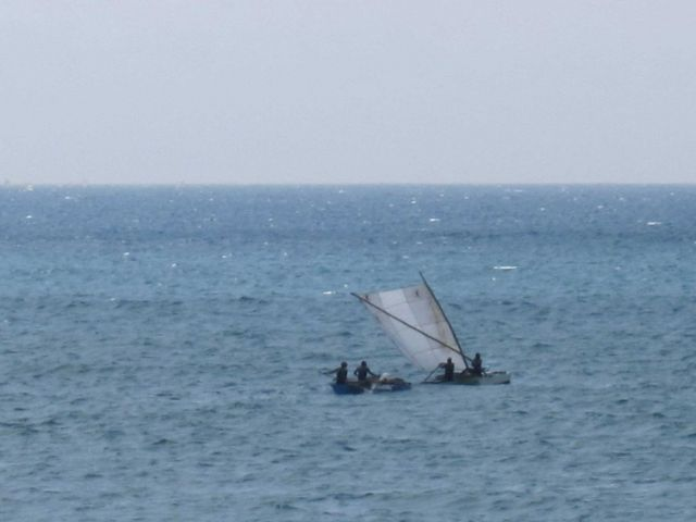 Sao Tomean artisanal fishing boat Picture
