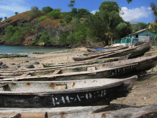 Sao Tomean artisanal fishing boats Picture