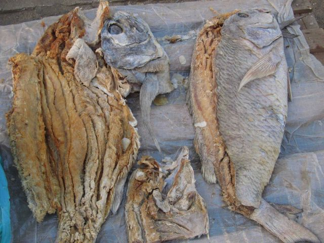 Dried fish in Sao Tomean market Picture