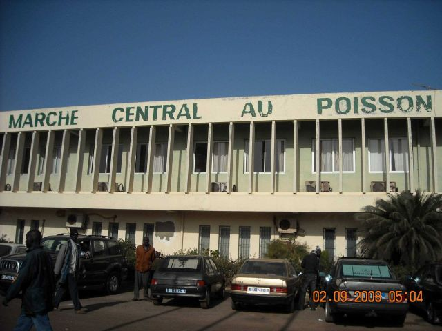 The Central Fish Market at Dakar. Picture