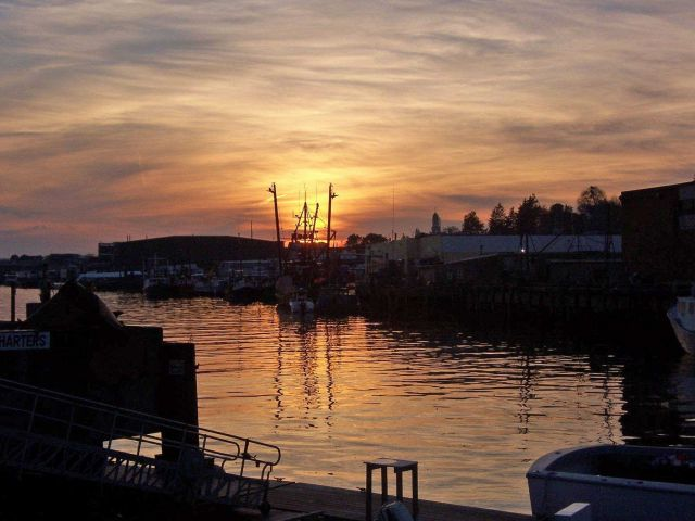Gloucester fishing port at sunset Picture