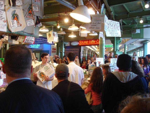 Scene in the Pike Place Fish Market Picture