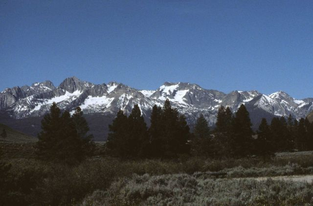 A view of the Sawtooth Range near Stanley Picture
