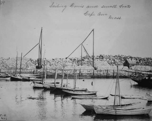 Sailing dories and small boats, Cape Ann, MA. Picture