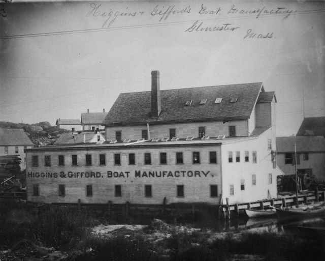 Higgin's & Gifford's Boat Manufactory, Gloucester, MA. Picture