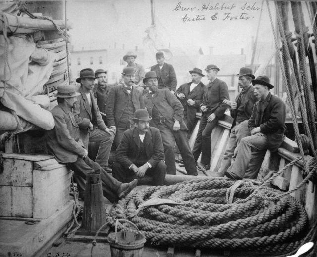 Crew, halibut schooner E Picture