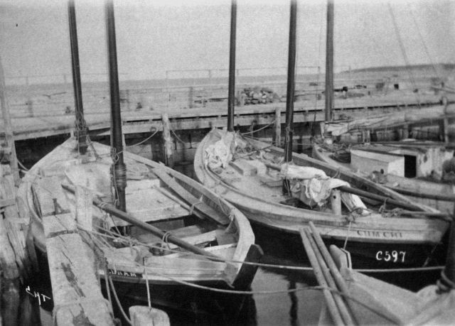 Fishing boats, Block Island, 1899. Picture