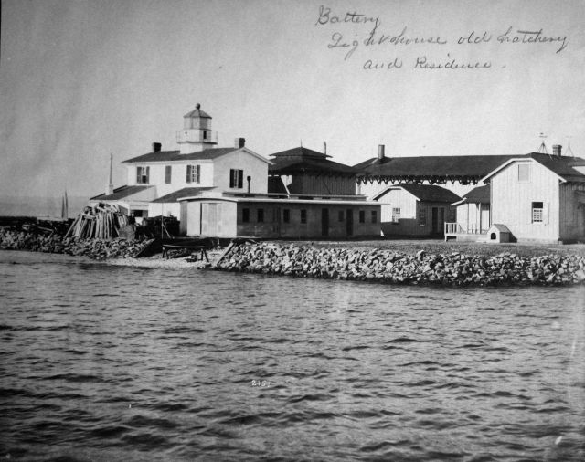 Fishing Battery Lighthouse, old hatchery, and residence. Picture