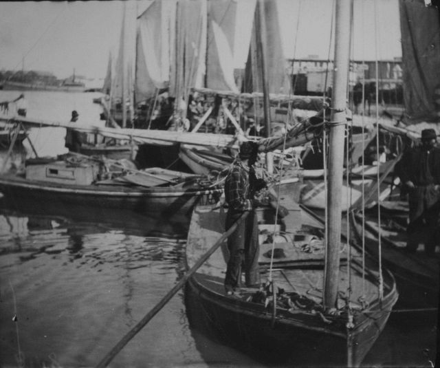 Fishing boats of Galveston, TX. Picture