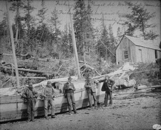 Fishing boat Puget Sound, WA, San Juan Ids., fishes for halibut, herring and occasionally for dogfish, 1895. Picture