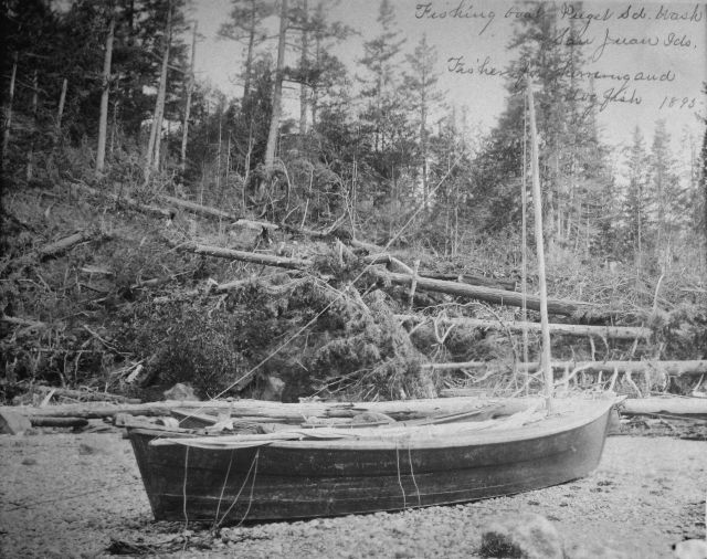 Fishing boat Puget Sound, WA, San Juan Ids., fishing for herring and dogfish, 1895. Picture