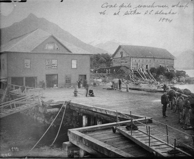 Coal pile, warehouse, wharf, etc Picture