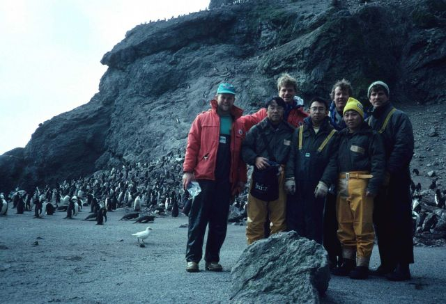 The Seal Island research team, with Dr Picture