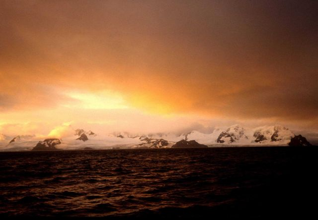 A sunrise in the South Shetland Islands. Picture