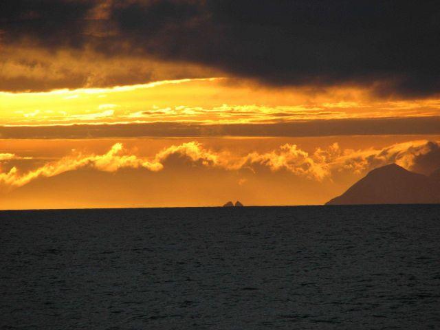 Sunrise near Elephant Island. Picture