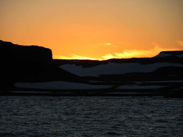 Sunset at Cape Shirreff, Livingston Island. Picture