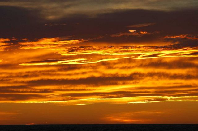 An Antarctic sunset. Picture