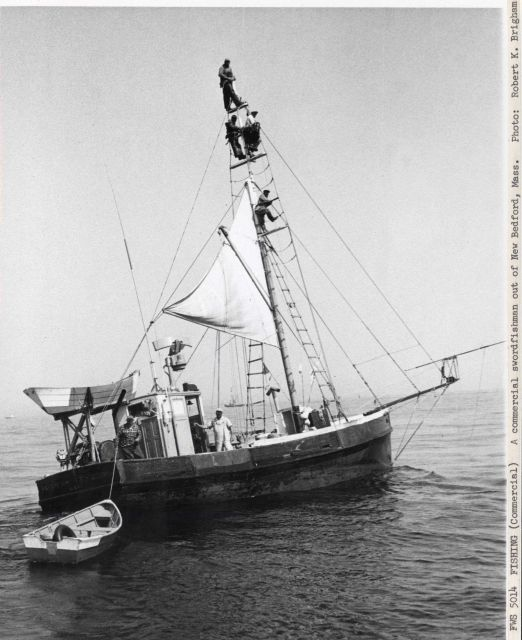 A commercial swordfishing boat out of New Bedford. Picture