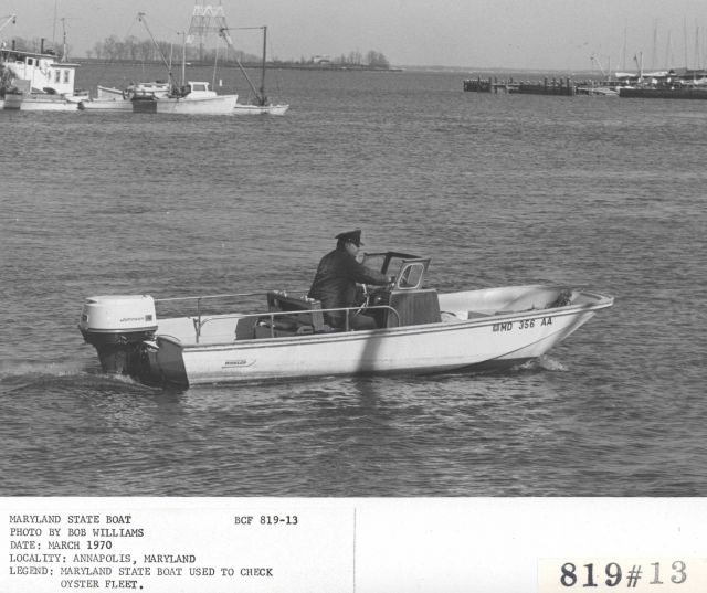Maryland state patrol boat monitors oystering among other duties Picture
