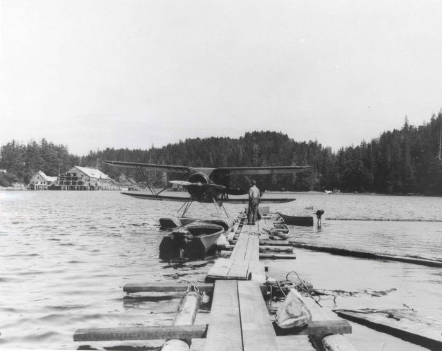 Airplane used by Fish and Wildlife Service in Alaska. Picture