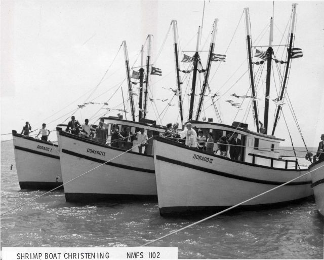 Christening of new shrimp boats acquired by the Dorado Fishing Cooperative in Puerto Rico. Picture