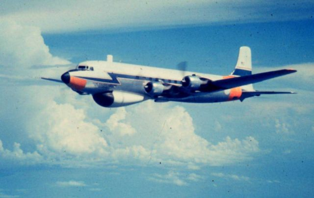 Weather Bureau DC-6 N6539C in flight Picture