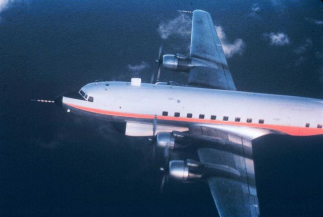 Weather Bureau DC-6 39C in flight Picture