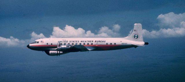 Weather Bureau DC-6 N6540C in flight Picture
