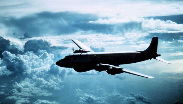 Weather Bureau DC-6 in flight Picture