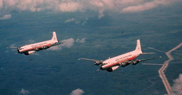 Weather Bureau DC-6's in flight Picture