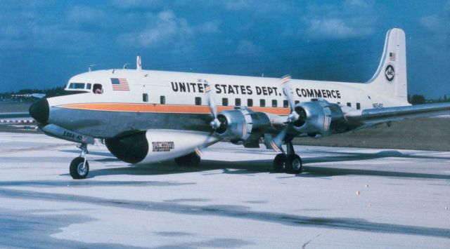 Weather Bureau DC-6 N6540C with ESSA designator. Picture