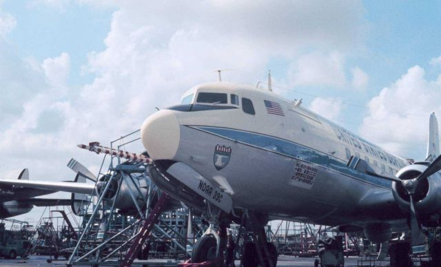 NOAA DC-6 39C with NOAA designator. Picture