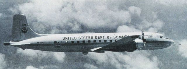 NOAA DC-6 N6539C in flight. Picture