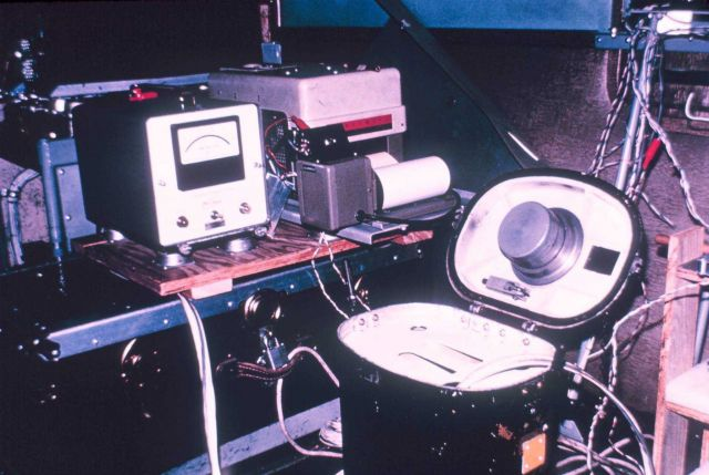 Dropsonde chute and infra-red temperature sensor. Picture