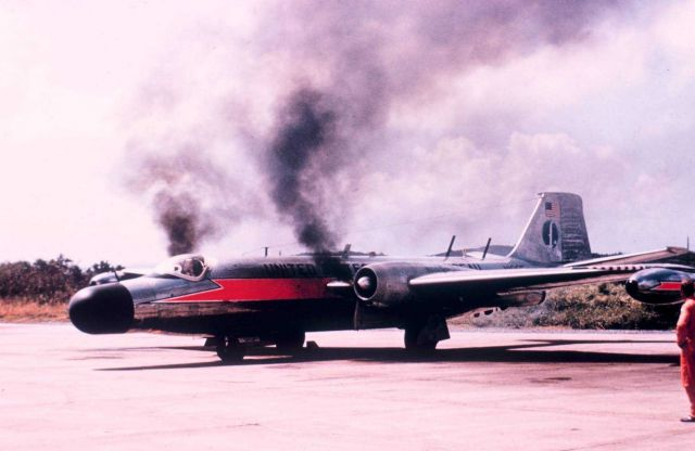 ESSA B-57 N1005 firing up the engines Picture