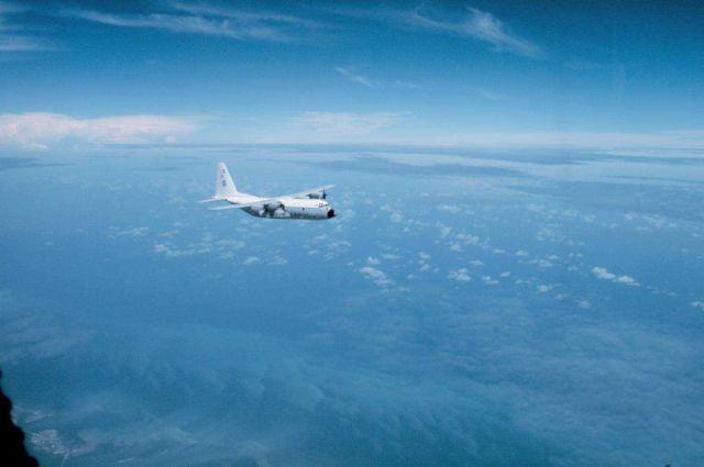 NOAA C-130 N6541C in flight. Picture