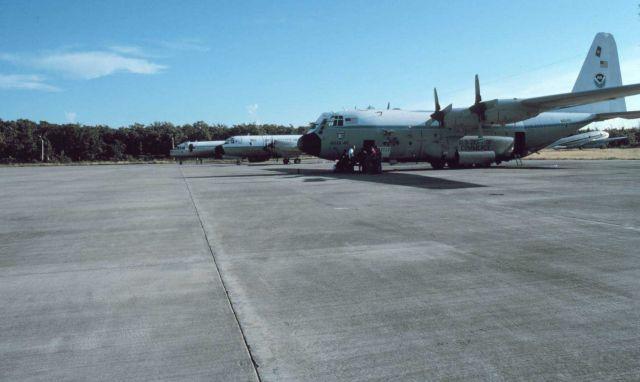 NOAA C-130 N6541C on tarmac. Picture