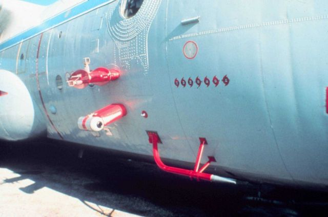 Fuselage-mounted sensors on NOAA C-130 N6541C Picture