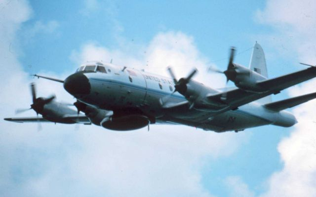 NOAA P-3 in flight Picture