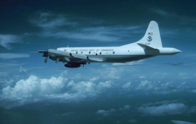 NOAA P-3 N43RF in flight Picture