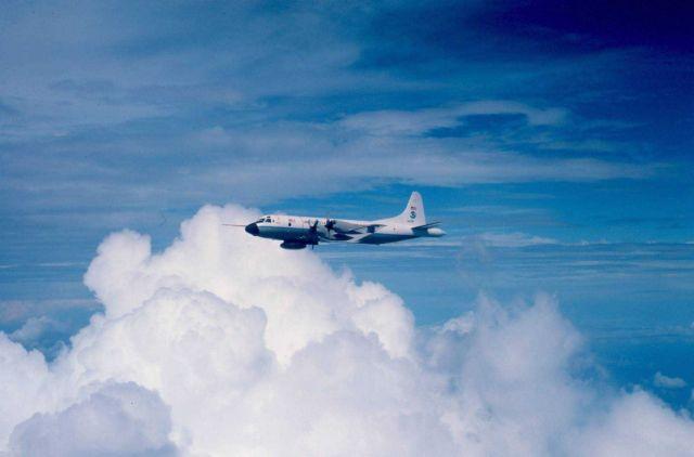 NOAA P-3 N43RF in flight Picture
