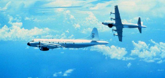 Both NOAA P-3's in flight Picture