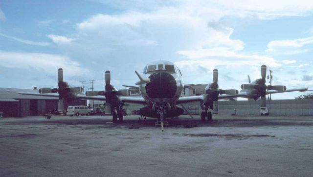Head-on view of NOAA P-3 on the tarmac Picture